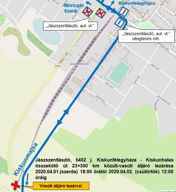 Április 1-jétől lezárják a vasúti átjárót, áthelyezik a buszvárót