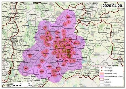 Madárinfluenza - Kiskunmajsai járás is érintett